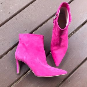 Hot Pink Ankle Booties